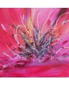 tableau abstrait rose