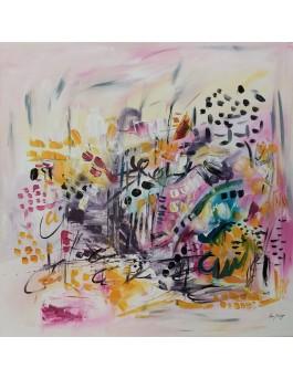 En plein rêve - tableau abstrait coloré