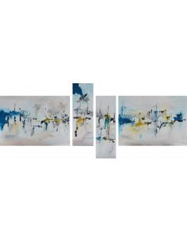 grand tableau abstrait xxl en plusieurs parties