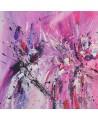 tableau abstrait rose et violet