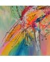 tableau abstrait couleurs vives