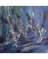 tableau abstrait voiliers en mer