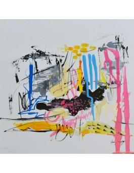 Lac d'artiste - tableau abstrait contemporain unique