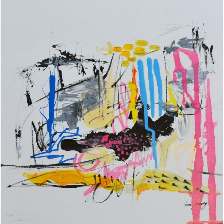 tableau abstrait contemporain unique