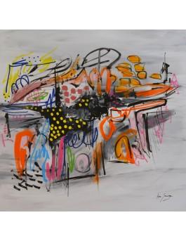 Luna - tableau contemporain abstrait unique