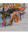 tableau contemporain abstrait