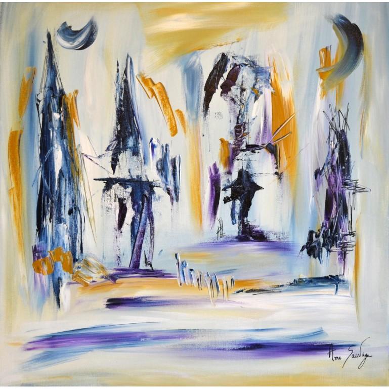 Concerto de nuit - Tableau abstrait contemporain