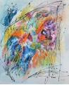 tableau abstrait coloré vertical