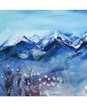 peinture abstraite montagnes