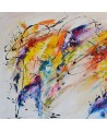 tableau abstrait contemporain coloré