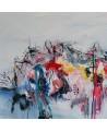 tableau abstrait contemporain au couteau