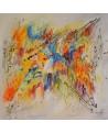 grand tableau abstrait contemporain coloré