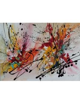 Projeté - petit tableau abstrait coloré