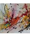 petit tableau abstrait coloré