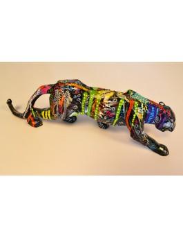 Panthère sauvage - Sculpture de panthère originale