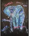 tableau abstrait éléphant