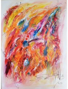 Colors culture - grand tableau abstrait multicolore coloré