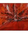 tableau abstrait rouge noir et blanc