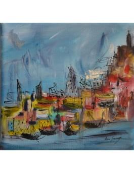 tableau peinture la côte Amalfitaine Italie