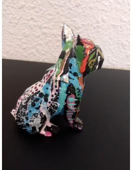 Festiv dog - sculpture bouledogue français pop art