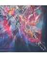 grand tableau abstrait contemporain flashy