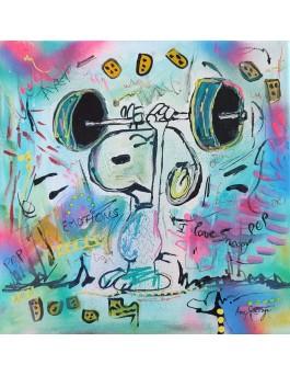 tableau peinture Snoopy