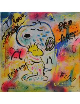 Tableau Snoopy et woodstock
