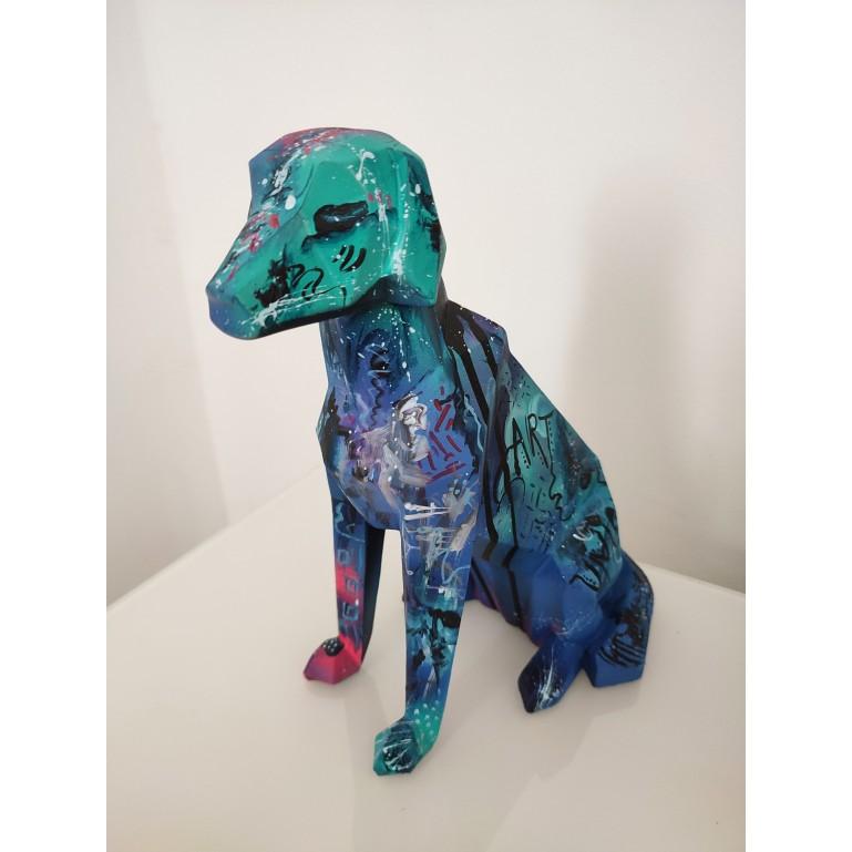 sculpture contemporaine chien