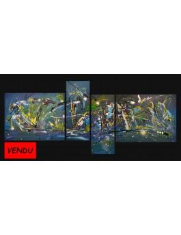 Au fin fond du cosmos - Peinture en plusieurs tableaux