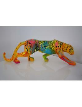 Savage - Sculpture de léopard pop art originale