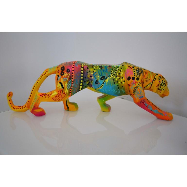 Sculpture de léopard pop art originale