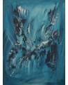 tableau monochrome bleu