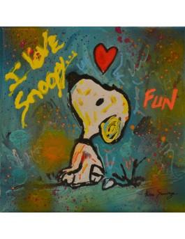 Snoopy calme - tableau moderne snoopy