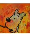 tableau Milou le chien de Tintin