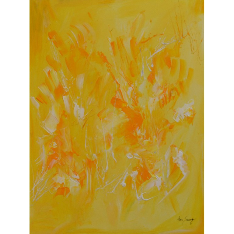 tableau monochrome jaune