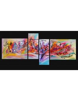 "Quadriptyque ""colors of life"""