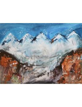 La vallée des montagnes - tableau moderne montagnes