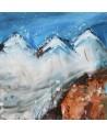 tableau moderne montagnes