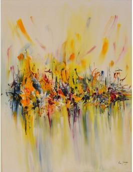 tableau abstrait vertical coloré