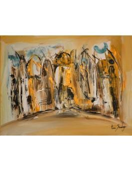 Peinture abstraite Le jour se lève