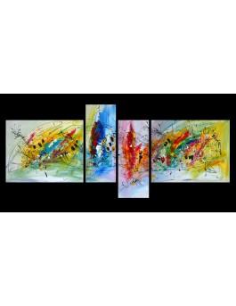 Double regards - quadriptyque multicolore