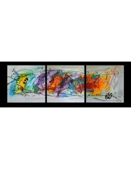 Cascade colorée - tableau triptyque