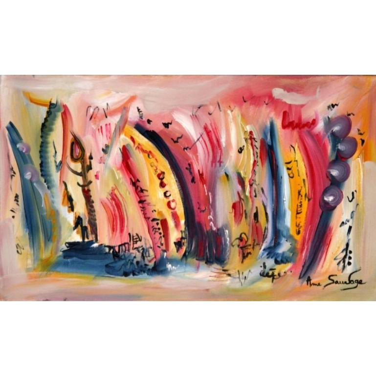 toile asbtraite artiste peintre-Le rêve magique