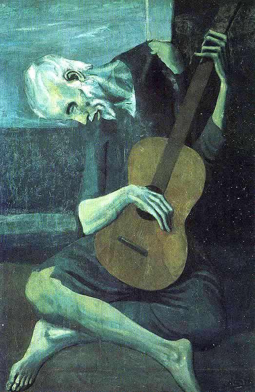 le vieux guitariste aveugle picasso