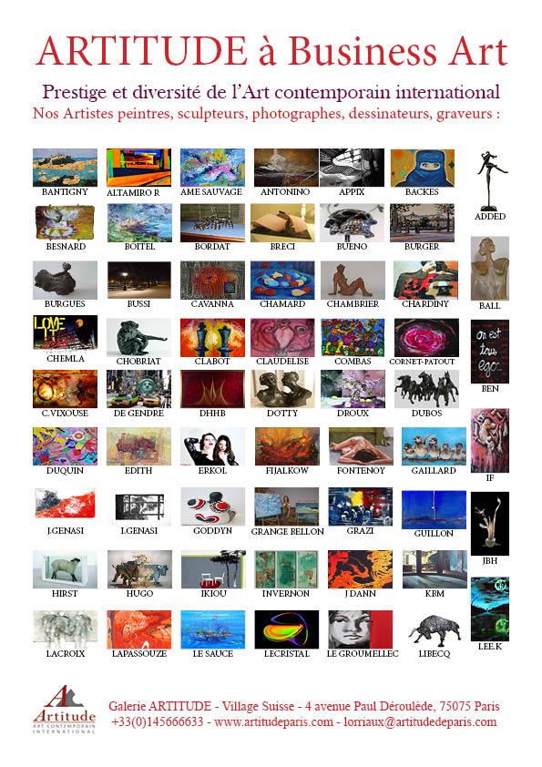 Œuvre d'Ame Sauvage dans la gazette des arts, magazine spécialisé en art contemporain.