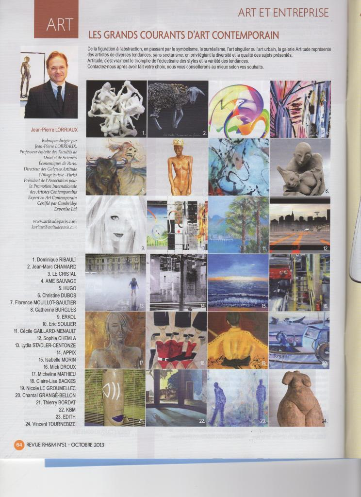 """Magazine RH & MToile abstraite d'âme sauvage """"chez les indiens"""" (n°4)"""