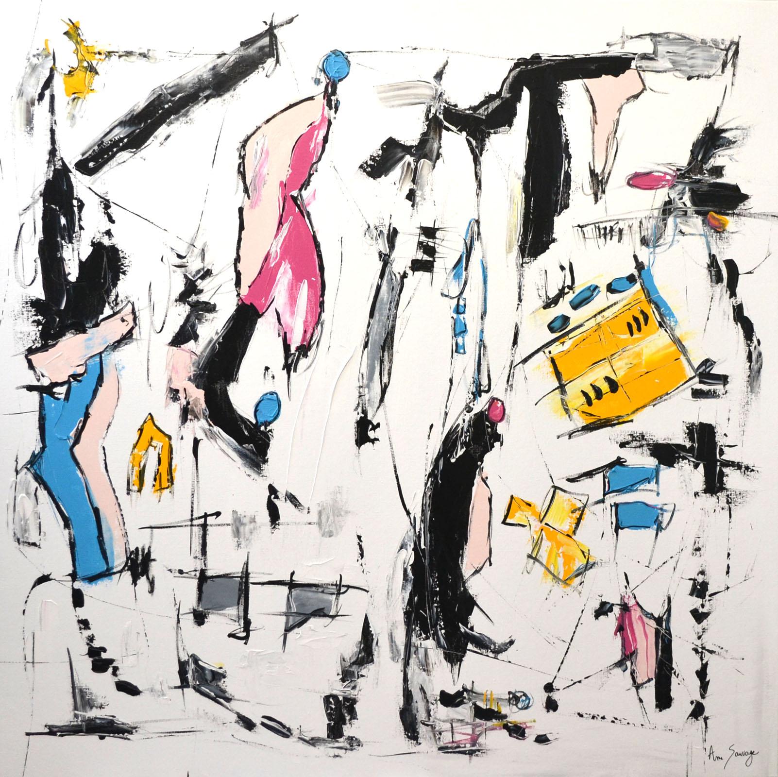 grand tableau moderne d'artiste