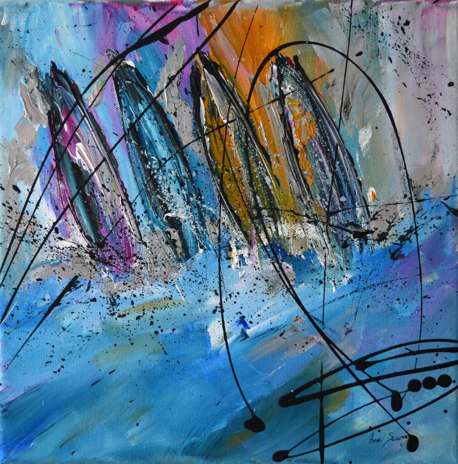 Peinture Abstraite Au Couteau Tableau Moderne D Artiste Peintre
