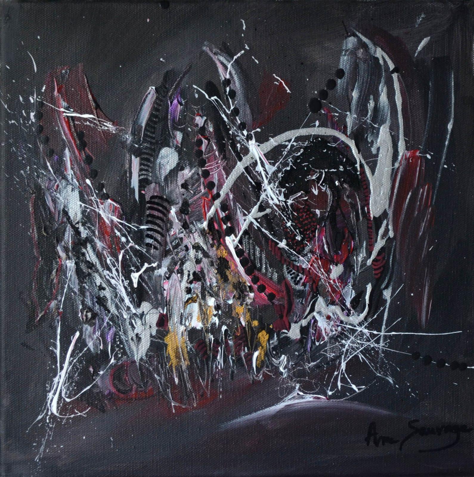 Peinture Abstraite Moderne Noir Et Blanc Ame Sauvage