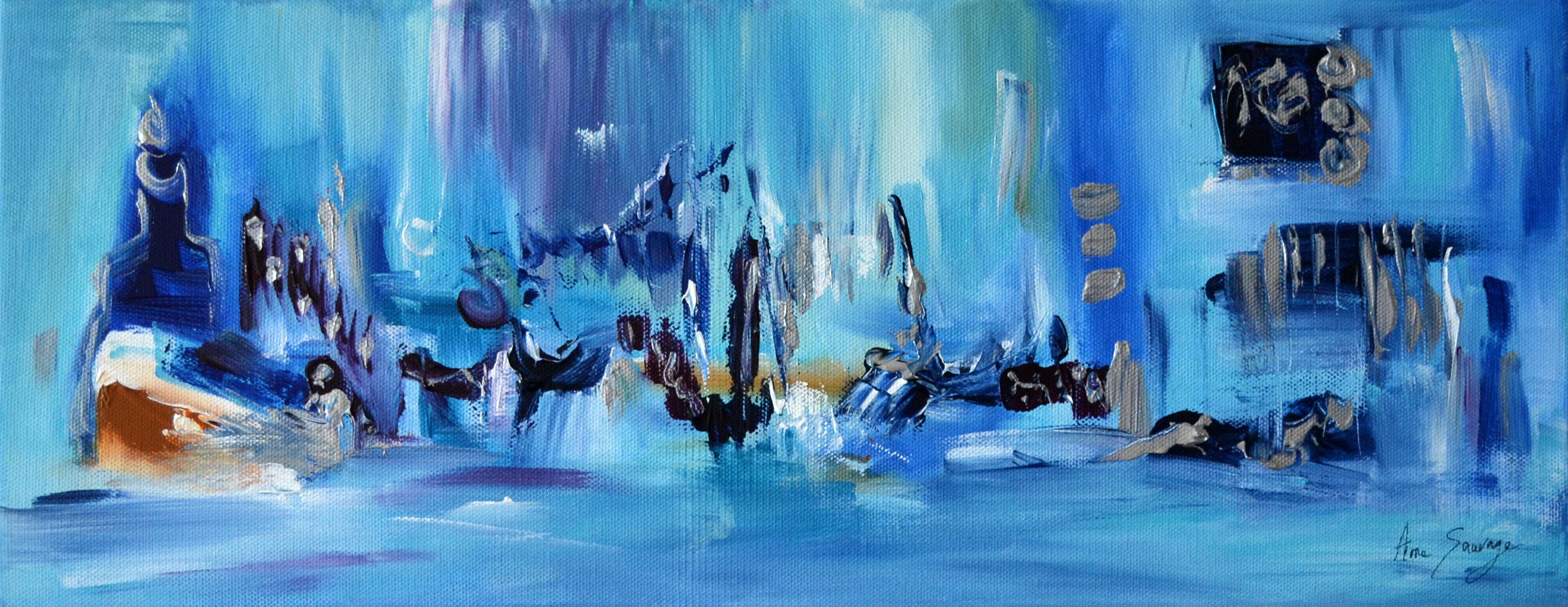 tableau panoramique bleu